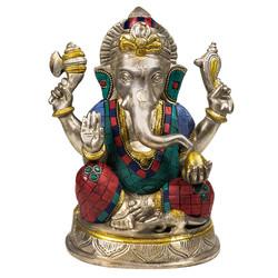 Ganesha beeld met mozaïek decoratie