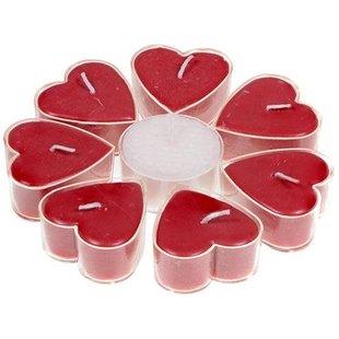 Hartvormige geurkaarsjes stearine roos