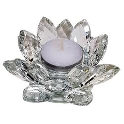 Lotus kaarshouder kristal M