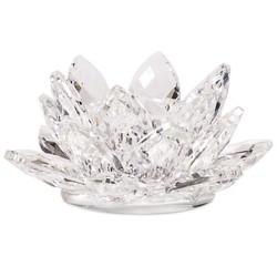 Lotus kaarshouder kristal S
