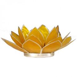 Lotus sfeerlicht geel 3e chakra zilverrand