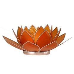Lotus sfeerlicht oranje 2e chakra zilverrand