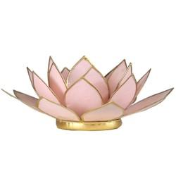 Lotus sfeerlicht pastel roze goudrand