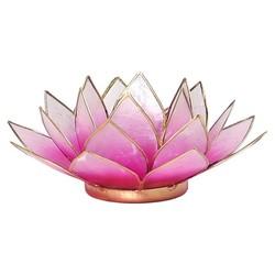 Lotus sfeerlicht roze/lichtroze goudrand