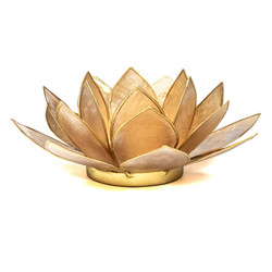 Lotus sfeerlicht smoked goudrand