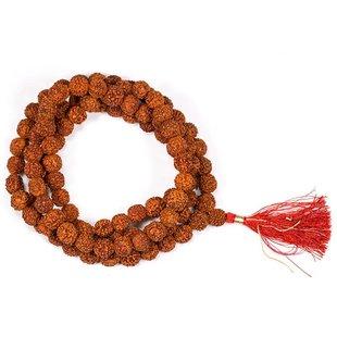 Mala Rudraksha 108 kralen met rode kwast