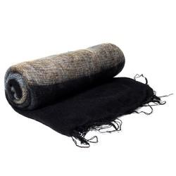 Meditatie omslagdoek zwart met strepen