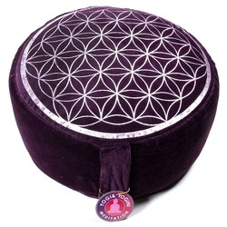 Meditatiekussen vintage look paars bloem des levens