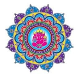 Raamsticker Ganesha -- 14 cm