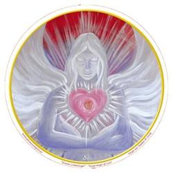 Raamsticker Great Angel of Love -- 10.5 cm