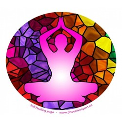 Raamsticker Self Healing Yoga -- 10.5 cm