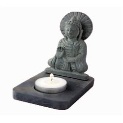 Sfeerlicht Boeddha waxinelichthouder zeepsteen