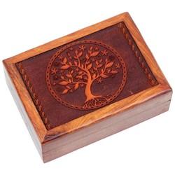 Tarotdoos Levensboom gegraveerd