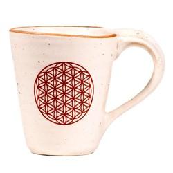 Thee- en koffiemok Bloem des Levens