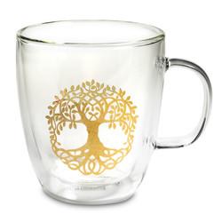 Theeglas dubbelwandig Levensboom