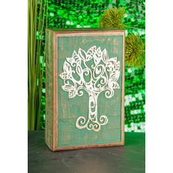 Opbergdoos van hout met Keltische levensboom