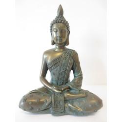 Brons/groen mediterende Boeddha II