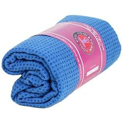 Yoga handdoek siliconen antislip blauw