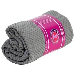 Yoga handdoek siliconen antislip grijs
