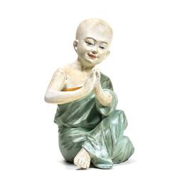 Yoga monnik beeldje namaste groen