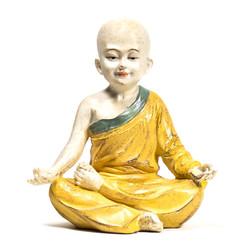 Yoga monnik beeldje ohm oranje