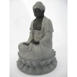 Hematiet meditatie Boeddha lotus groot