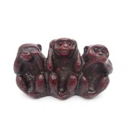 Horen. zien. zwijgen aapjes rood (vast)