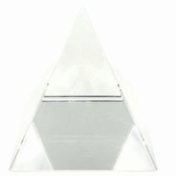 Kristallen piramide wit
