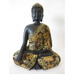 Meditatie Boeddha goud/zwart