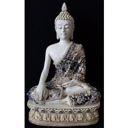 Meditatie Boeddha Wit groot