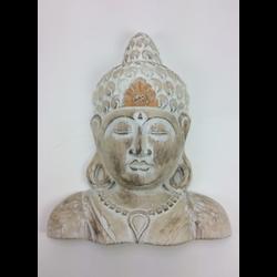 Boeddha Souldier H 40 cm oranje