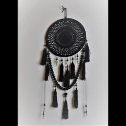 Dromenvanger Angelica zwart met kralen 40 cm