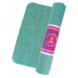 Yogi & Yogini yogamat jute turquoise