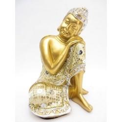 Slapende Boeddha goud/rood
