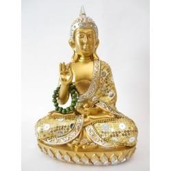 Thaise Boeddha met ketting goud