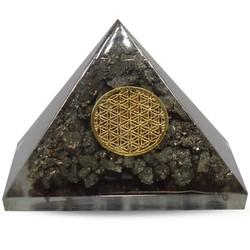 Orgoniet Piramide - pyriet flower of life 40 mm