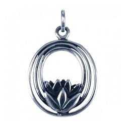 Symbool Hanger Lotus 3 ovale ringen