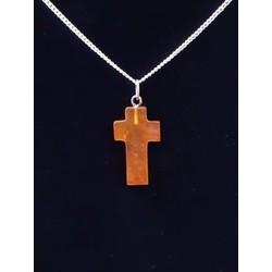Barnsteen kruisjes hanger