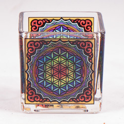 Theelichtglas Flower of life