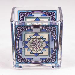 Theelichtglas Shri Yantra
