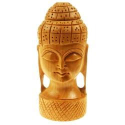 Boeddha Hoofdje hout - 4 inch