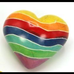 Speksteen regenboog hart