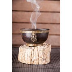Wierookbrander/rookschaal Ganesh koper, antieke stijl