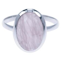 Zilveren ring Rozenkwarts 4806r