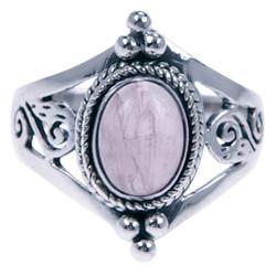 Zilveren ring Rozenkwarts
