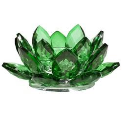 Lotus kaarshouder kristal groen