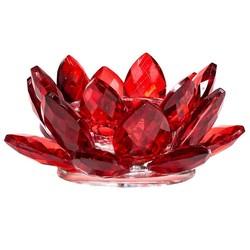 Lotus kaarshouder kristal rood