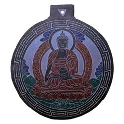 Leisteen reliëf Boeddha