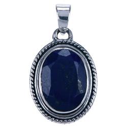 Zilveren hanger Lapis Lazuli