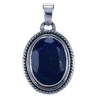 Zilveren hanger Lapis Lazuli ovaal